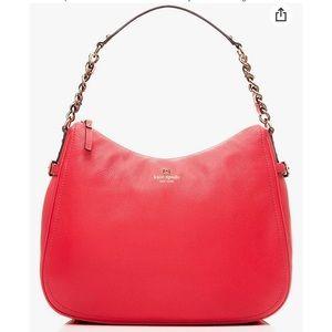 Kate Spade Pine Street Finley red leather shoulder bag